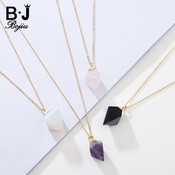 Hot Amethyst Pendant Jewelry Gold Send Friends Necklace