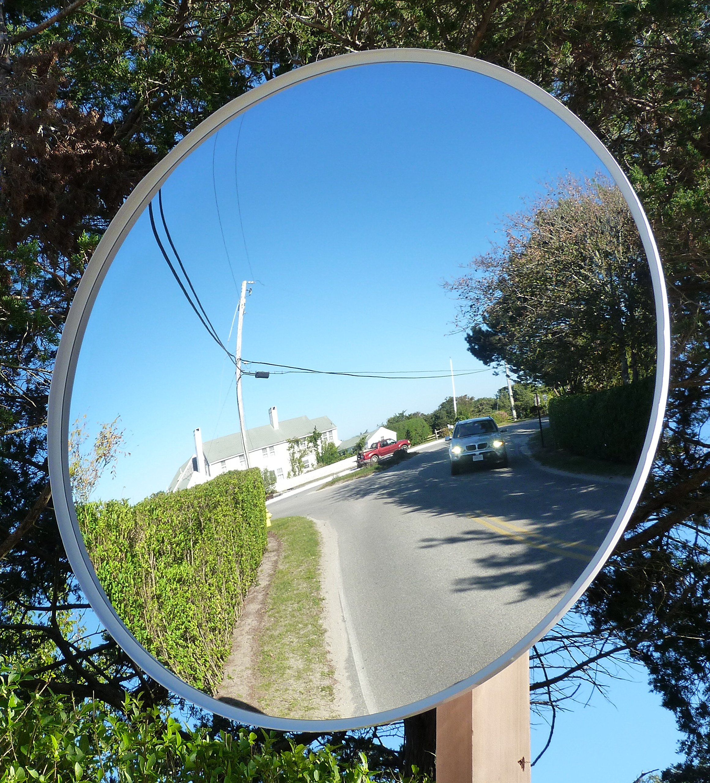 Get Quotations Safety Traffic Mirrors Outdoor Universal Security Convex Mirror Include Mounting Bracket