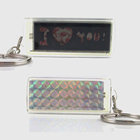 Mini Flash Solar LCD Keyring with Custom Logo Brand Solar Keychain