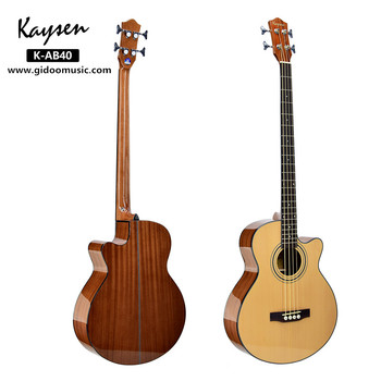 Wholesaler price high quality  OEM brand 4 steel strings  wood acoustic bass guitar for sale