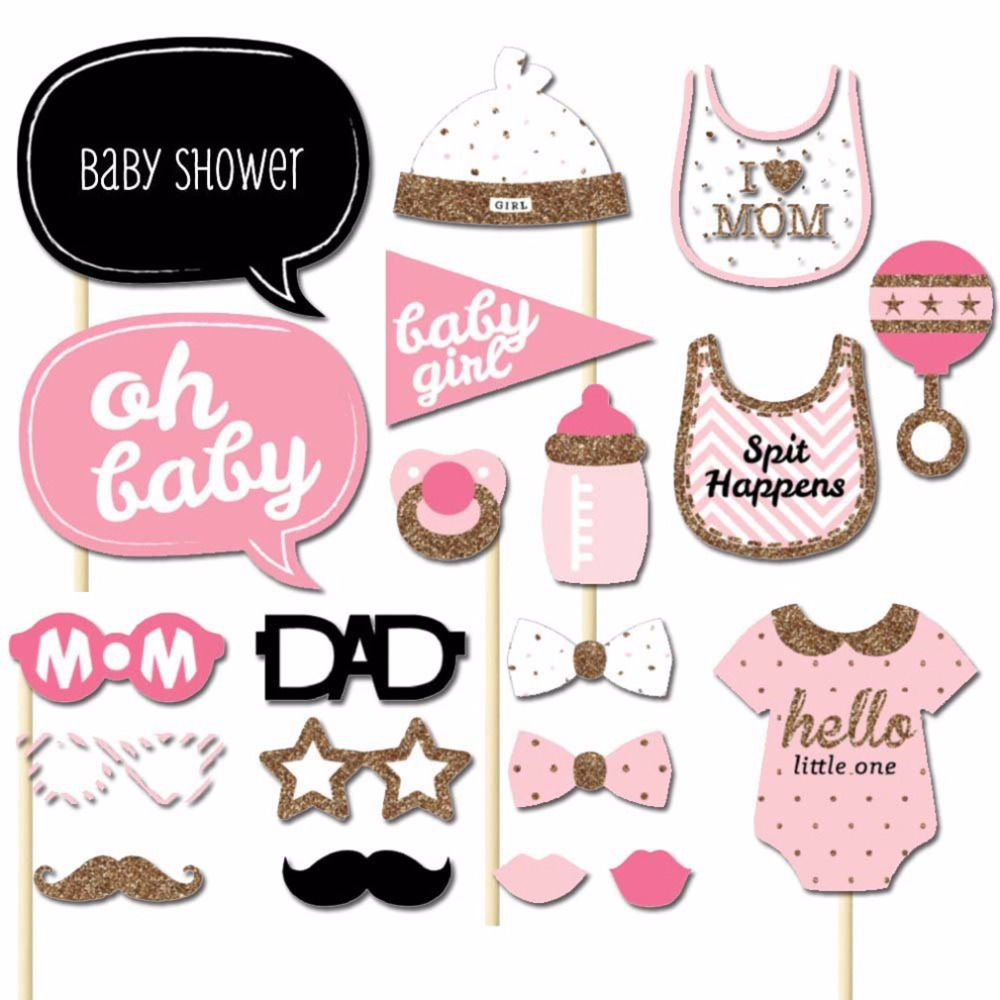 20Pcs/Set Girls Boys Baby Photo Photography Booth Parties Shower Props