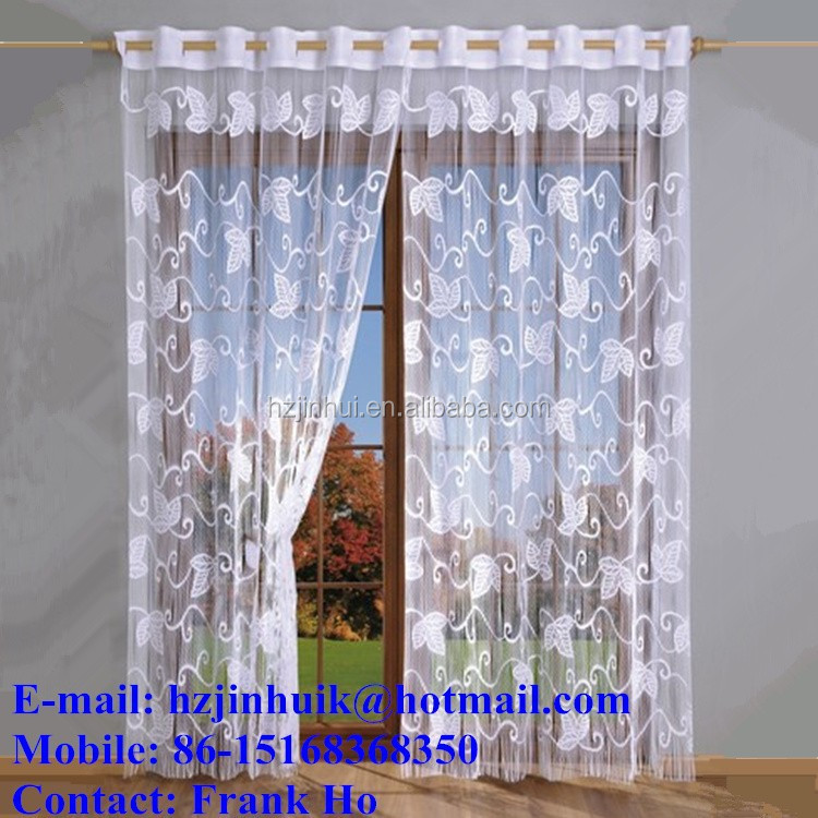 single color Butterfuly string curtain with fringe