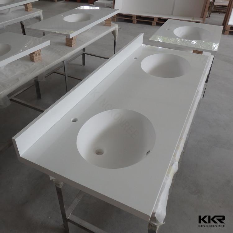 Solid Surface Molded Sink Countertop. Bathroom Countertops ...