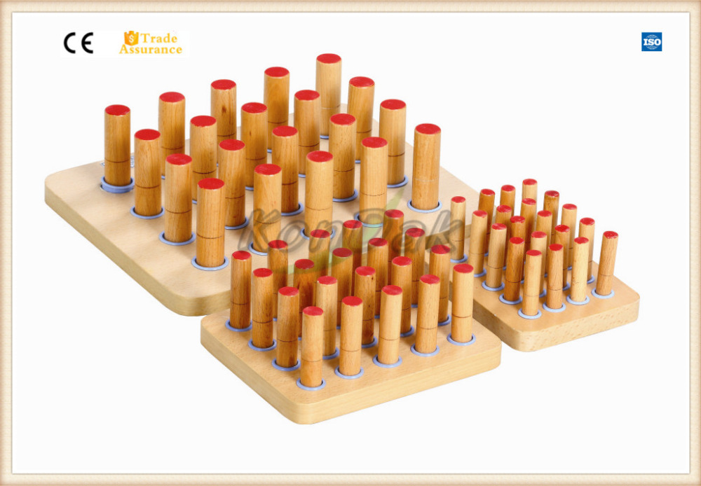 Wooden Cylinder Graded Peg Board Rehabilitation Therapy Supplies