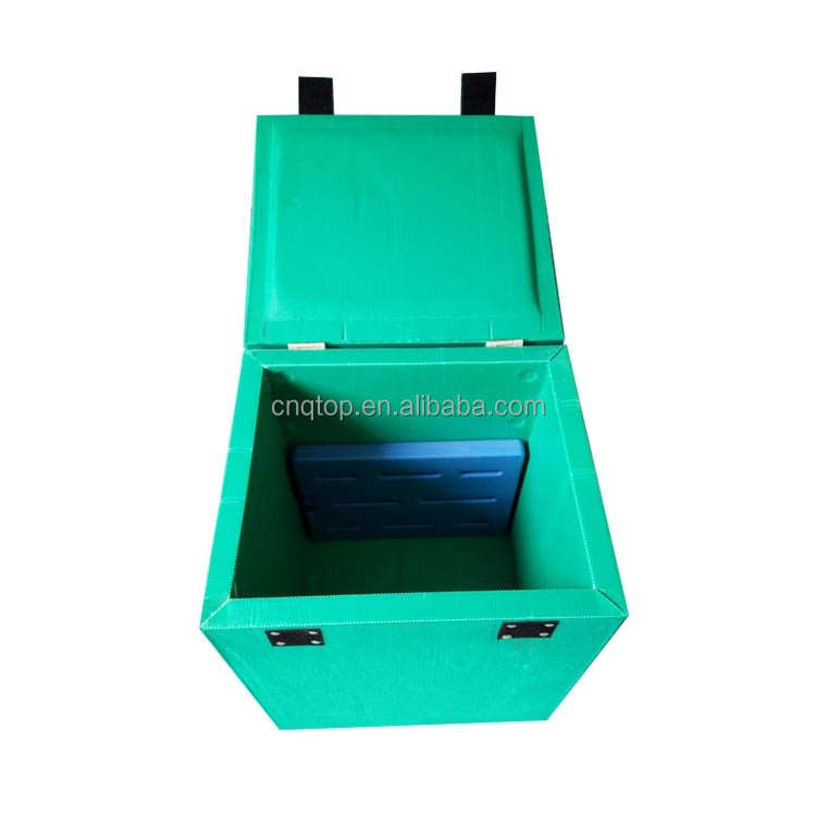 44L light weight PP plat sheet cooler box for logistic transferring