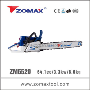 2014 professional ZM6520 4 stroke chain saw with oregon chain and bar
