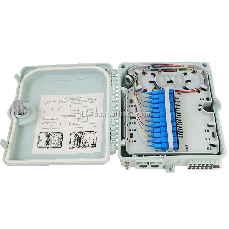 FTTH Fiber Distribution Box ip65 terminal box Outdoor 12 port 1X12 Cores Fiber Termination Boxes