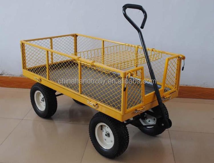 4 Wheel Mesh Garden Small Folding Cart Buy Small Folding