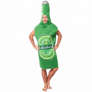 carnival party adult man funny beer bottle mascot costume for men fancy dress