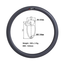 Wholesale gigantex carbon rims clincher 50mm T800 carbon fiber