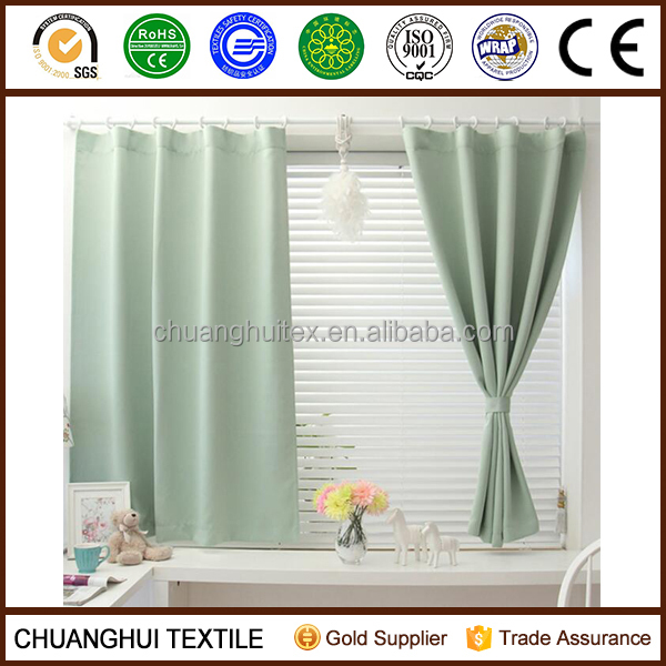 solid color pinch pleat ready made curtain for home ,hotel