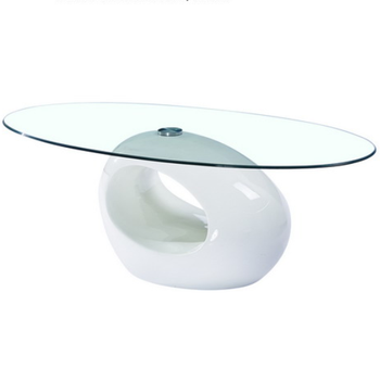 Glass Coffee Table White Base 5
