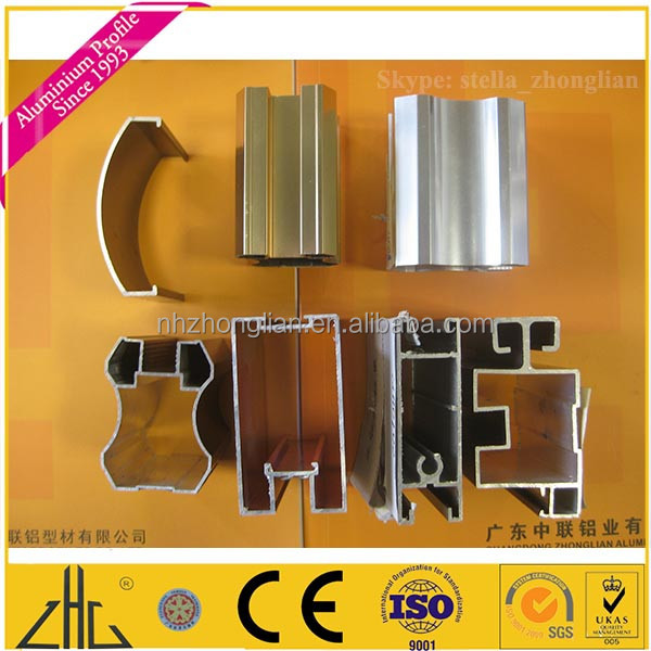 6000 serious anodized colors aluminium guide railing for sliding door and window,wardrobe frame/aluminium shutters guide rail