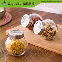 Lead free glass jar cork lid,sealable glass jar