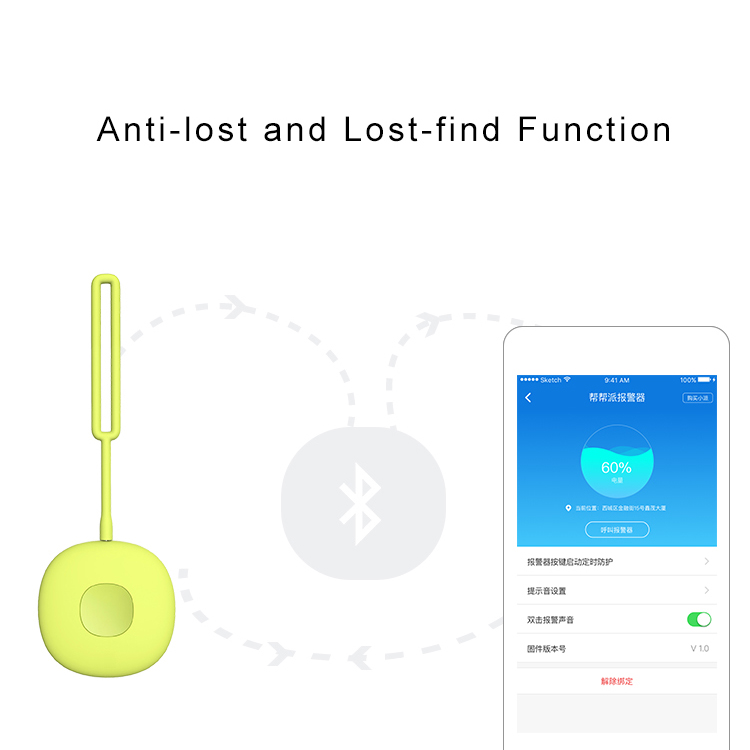 Free app smart gps tracker with bluetooth for women