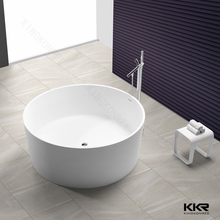 Child size solid surface freestanding bath tub