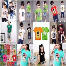 0.95USD Stock Wholesale Exporting Assorted Boys And Girls Children T Shirt /Polo t-Shirt/T-Shirt (gdzw153)