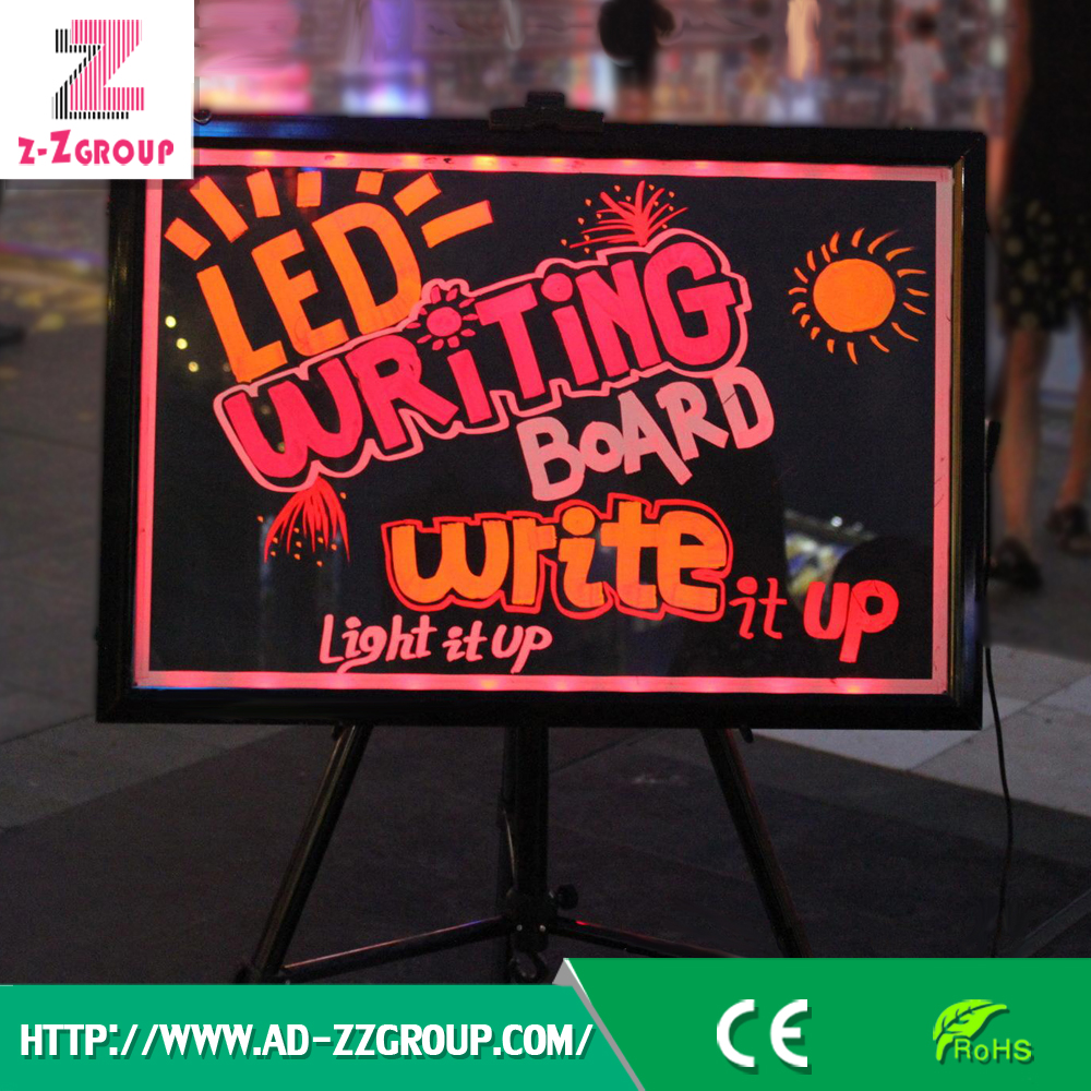 Guangzhou Erasable LED Writing Board with Fluorescent Marker Pen for Stores/Cafes/Pubs