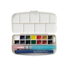 10 colors watercolor paint,fluorescent water color