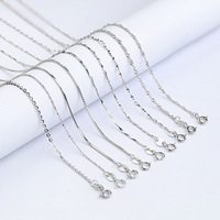 925 Silver Chain Italian Adjustable base box chain cross chains snake chain rope chain jewelry necklace for women