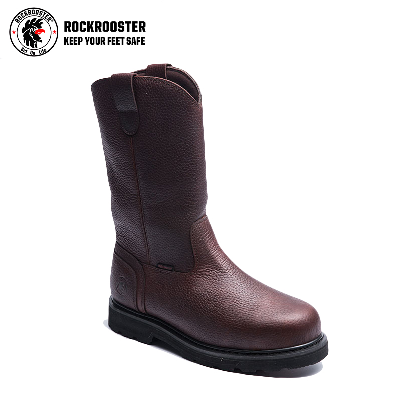 nubuck leather high ankle mining safety boots fashion work Europe steel toe cap safety boots