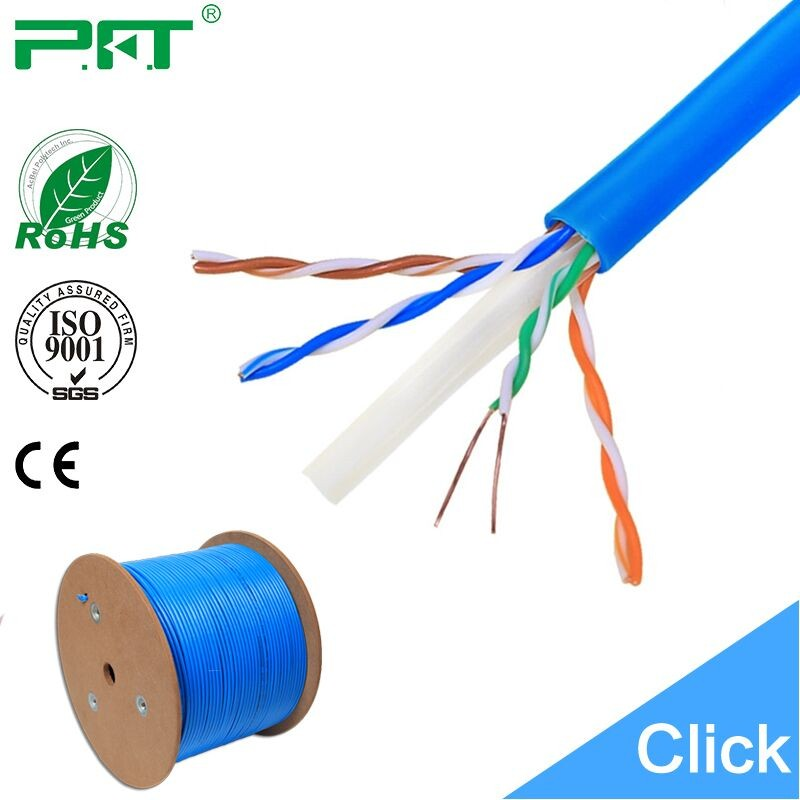 Cat6 UTP Solid Network ETHERNET Cable Bulk Wire 550MHz 23 AWG LAN Blue 1000ft