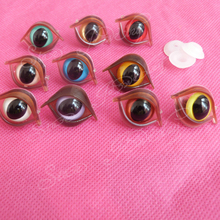 40pcs 10mm colorful toy cat eye brown eyelid washer