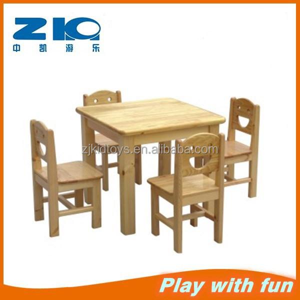 Moderna Ni O Preescolar Muebles Ni Os De Madera Mesa Y