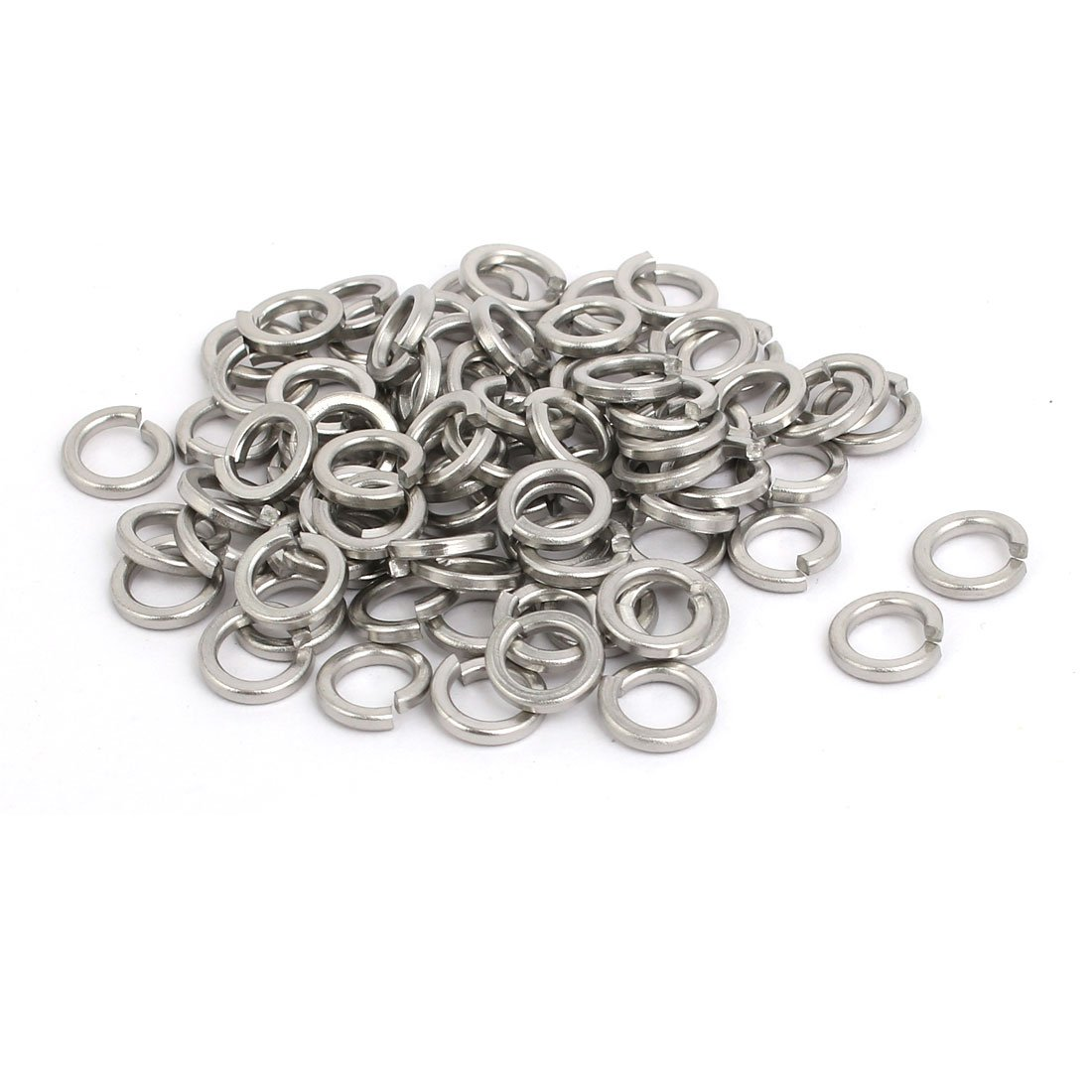 uxcell M5 Inner Diameter 304 Stainless Steel Split Lock Spring Washer Gasket 80pcs