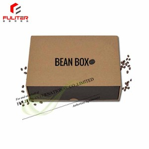 Custom cheap coffee packing beans cardboard boxes