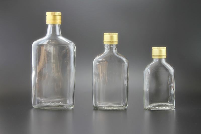 White Glass Empty 200ml 10oz 250ml 12oz 350ml Flat Spirit