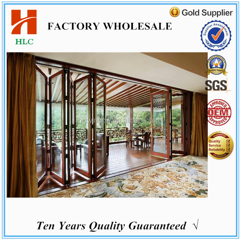 Horizontal opening type aluminium glass folding doors lowes for house