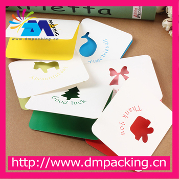 MIni Lovely Design Cute Cards Small Paper Gift Colorful Thank You Birthday Christmas