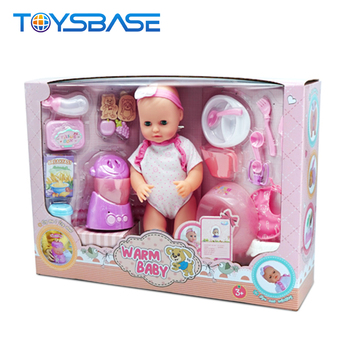 Plastic reborn newborn baby dolls play set