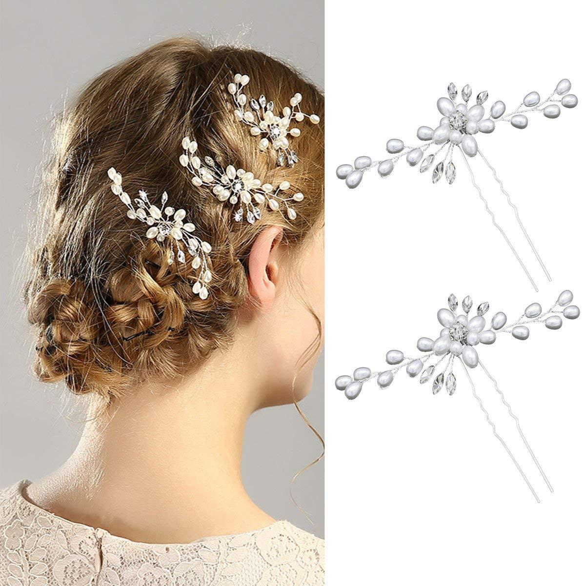 NEW HAIR GRIP WEDDING PARTY BRIDAL PROM PINS PARTY DIAMANTE WOMEN HAIRPINS  B3
