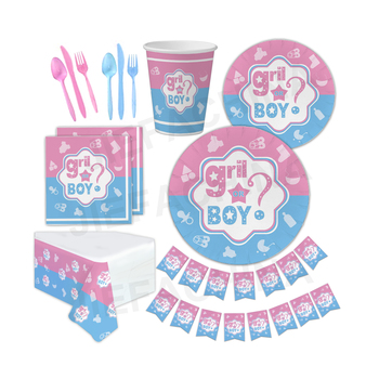 Factory design baby shower decoration gender reveal party supplies for boy or girl