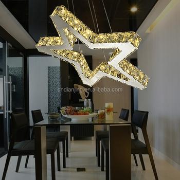Modern Crystal Star Shape Led Chandelier Ceiling Lights Pendant ...