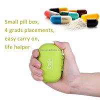 Deep 4 Compartments Plastic Pills/Vitamins Organizer Box