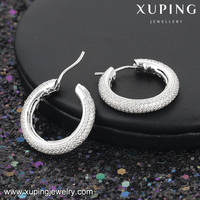 28176 xuping diamond earring luxury gift sumptuousness earring micro pave gemstone huggies earring