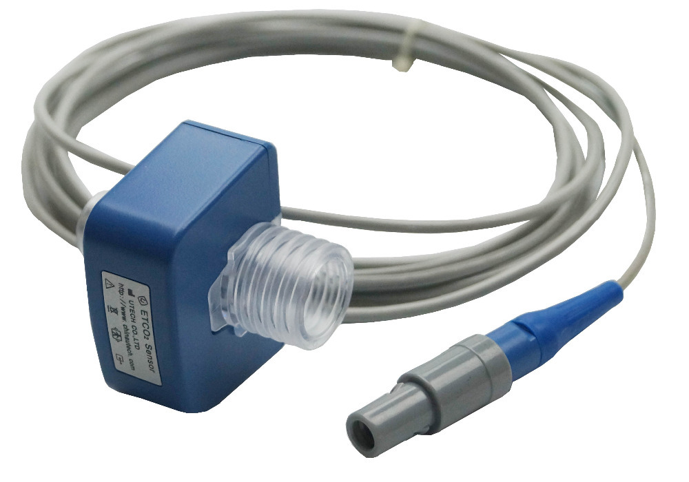 Capnograph Sensor for Patient Monitor with Airway Adapter