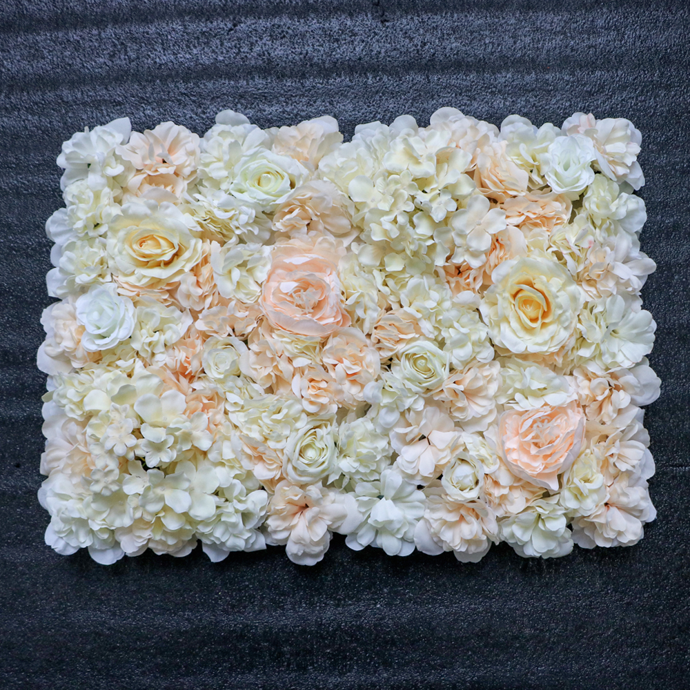 Flowerking modelo nuevo de buena venta blanco rosa Flor de pared decorativo boda flor artificial de la pared