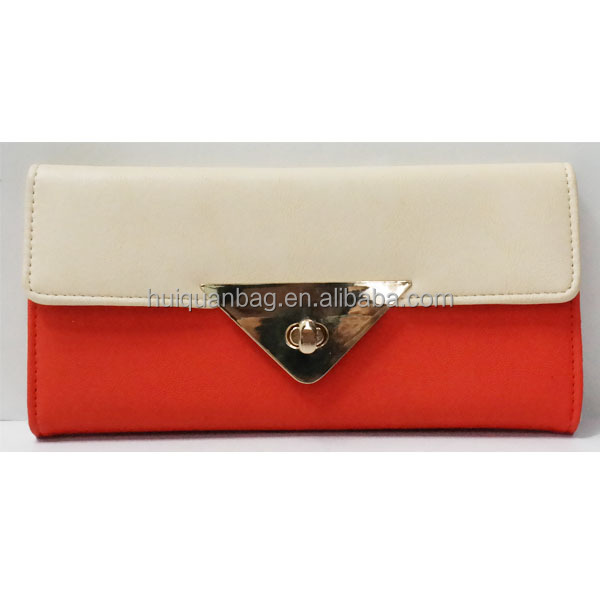 slim leather wallet to import with lock,cheap women wallet ladies