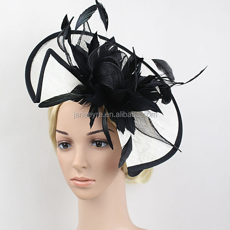 Wholesale Pretty Styles Kentucky Derby Race Feather Fascinator with Hairband