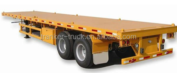 Factory price 3 axles 40ton 20ft flat bed container 40ft flatbed semi trailer for sale