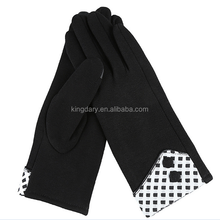2016 Black Classic Touch Screen Ladies' Style Not Velvet Fleece Gloves