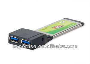add two USB 3.0 ports to Laptop ExpressCard 34mm slot, 2 SuperSpeed 5G (4.8Gbps)