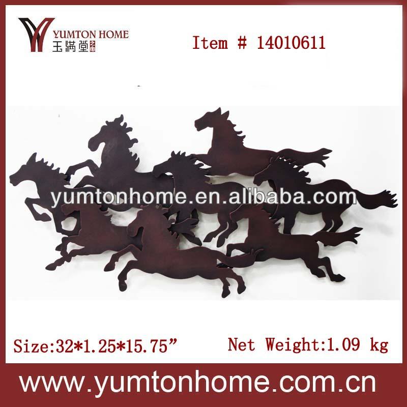 Metal Wall Art Horse Decor