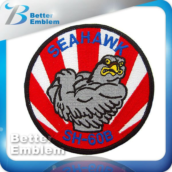 Bird Cartoon woven embroidery patch design