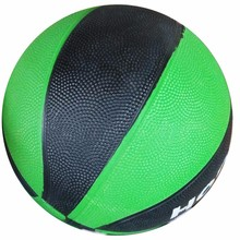Black and green custom logo kids cheap basketball ball with rubber material