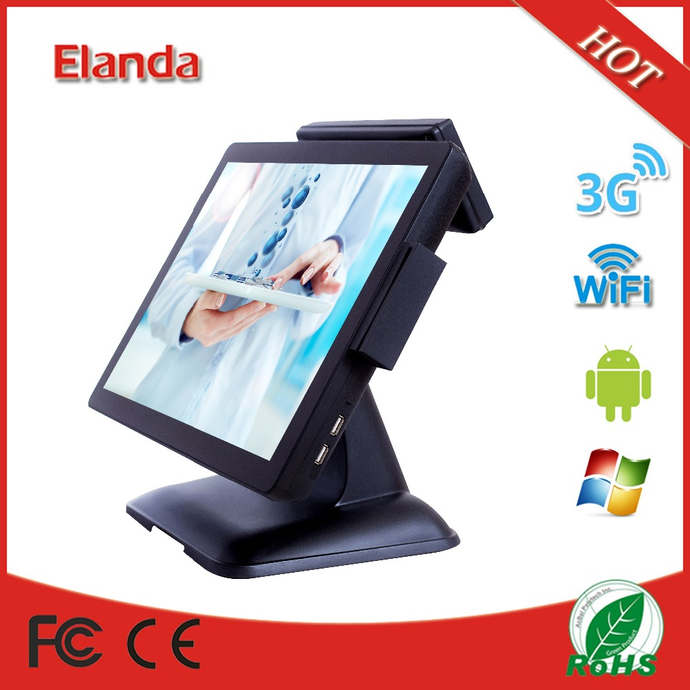 15 inch touch screen electronic cash register all in one